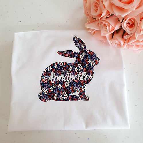 Girls Personalised Easter T-Shirt