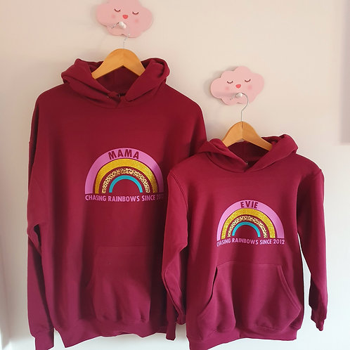 Mummy Daughter Matching Hoodies