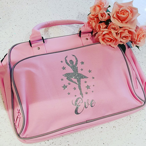 Girls Personalised Ballerina Dance Bag