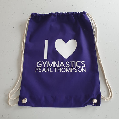 I Love Gymnastics Bag