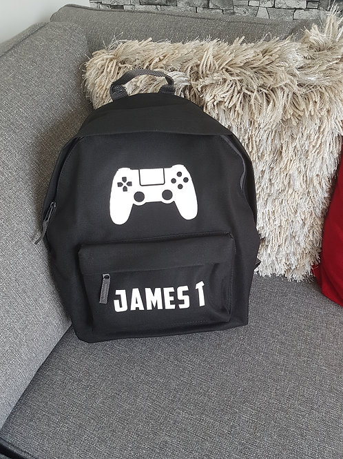 Personalised Games Console School Bag