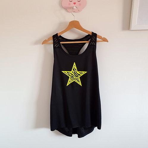 Neon Star Workout Vest