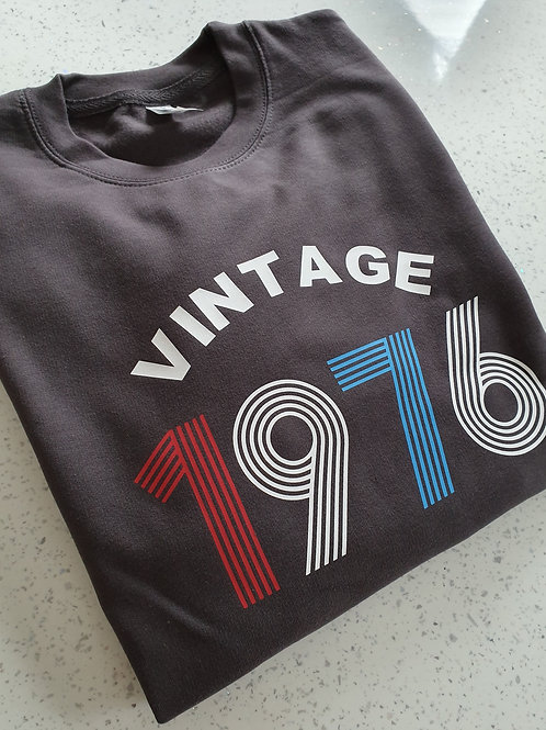 Vintage Birthday Year Sweater