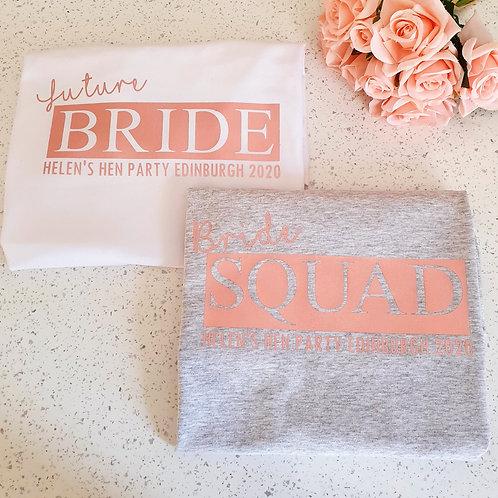 Rose Gold Hen Party T-Shirts