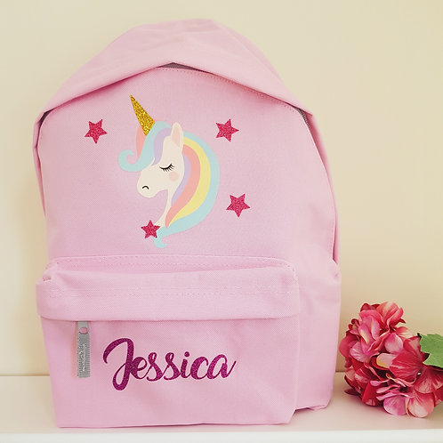 Personalised Unicorn backpack school bag