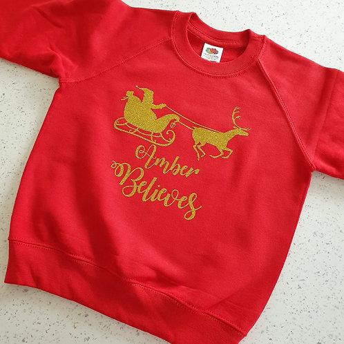 Personalised Christmas Jumper Kids/Adults