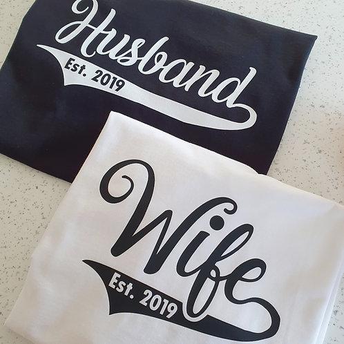 Husband Wife Established T-Shirts