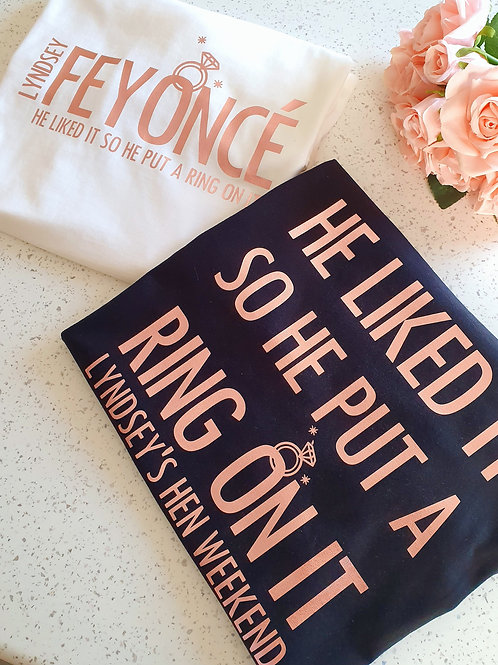 Feyonce Hen Party T Shirts