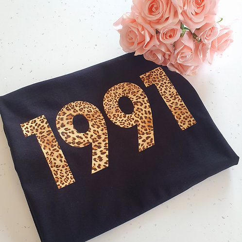 Leopard Birthday Year T-Shirt