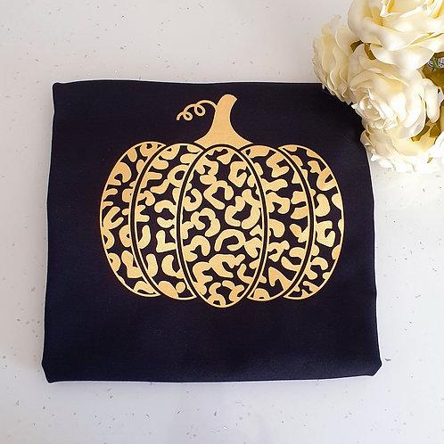 Leopard Print Pumpkin T-Shirt
