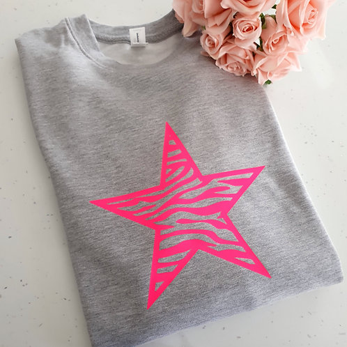 Neon Star Sweater