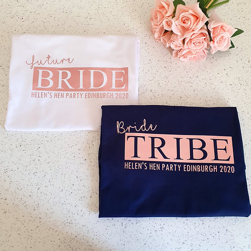 Rose Gold Bride Tribe Hen Party T-Shirts