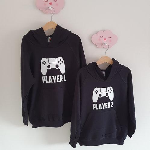 Player 1 Player 2 Hoodies