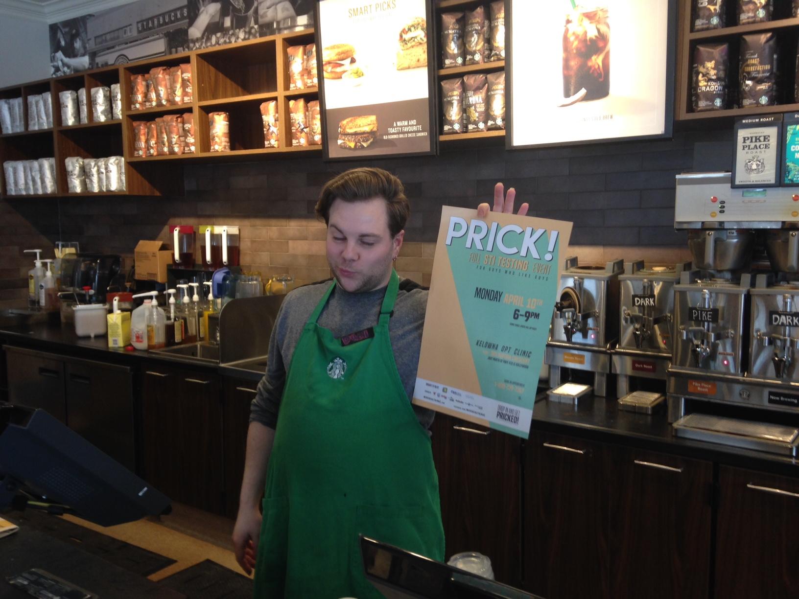 Starbucks supports PRICK!