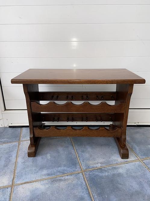 Lovely solid wood 10 bottle wine rack