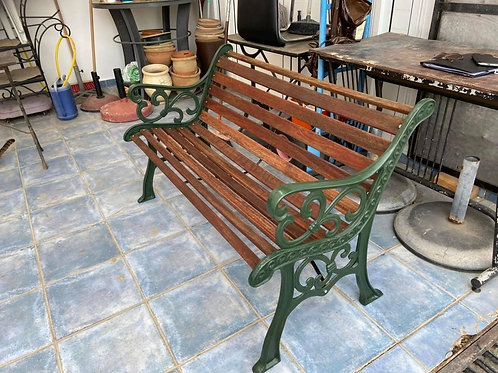 Newly painted bench, 2 chairs and table