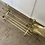 Thumbnail: Vintage brass fireplace companion set including the firedogs