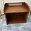 Thumbnail: Indian wood unit/open storage chest with decorative lattice detail
