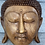 Thumbnail: Beautiful solid wood carved Buddhist head wall hanging