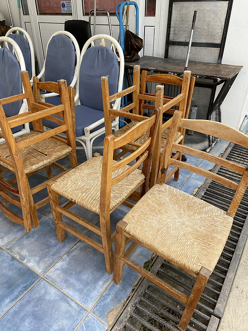 6 traditional Cypriot rush chairs