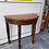 Thumbnail: Indian wood half moon table with 1 drawer