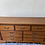 Thumbnail: Large vintage heavy wood 9 drawer sideboard with carved detail