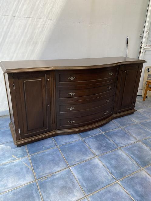 Vintage dark wood sideboard