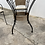 Thumbnail: Round glass top garden table and 4 chairs