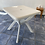 Thumbnail: White plastic garden table with hole for parasol (not included)