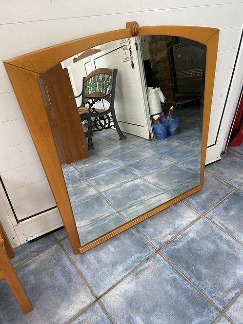 Large pine veneer backed mirror