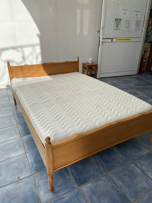 Pine double bed with excellent Aloe Vera mattress
