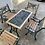 Thumbnail: Wrought iron table and 4 chairs