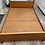 Thumbnail: Heavy cherry wood double bed with mattress