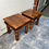 Thumbnail: 2 Indian wood coffee tables