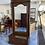 Thumbnail: Huge dark wood mirror unit with large drawer to base