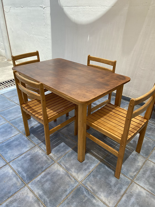 Beech table 122x76 75h and 4 chairs ideal up cycle project