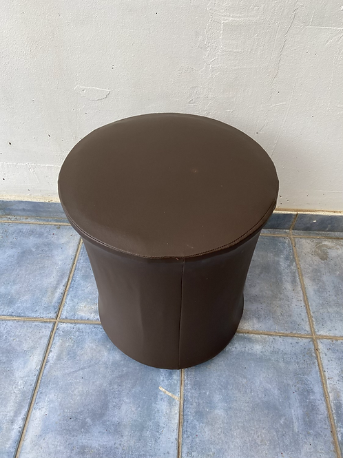 Chocolate brown leather stool