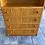Thumbnail: Pine veneer shelving wall unit with 4 drawers