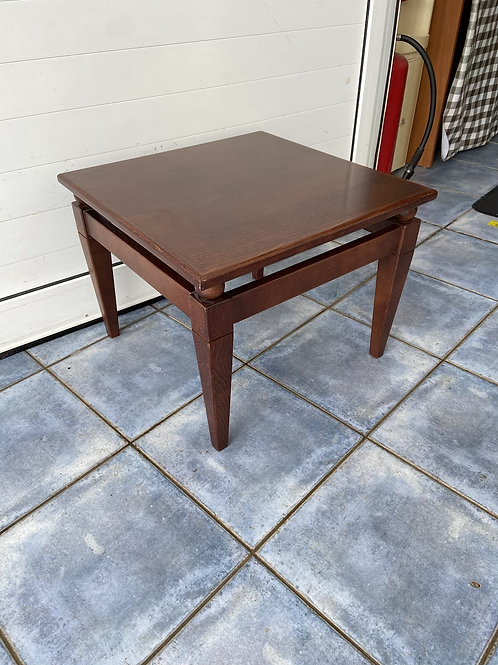 Dark wood coffee table 55x55 42h
