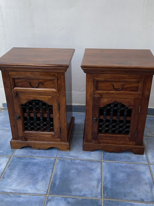 2 Indian wood cabinets