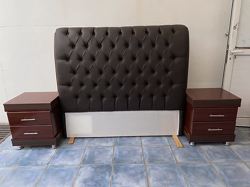 Magnificent headboard (SOLD) and 2 bedsides