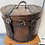 Thumbnail: Beautifully unusual wood and leather hinged box/casket l