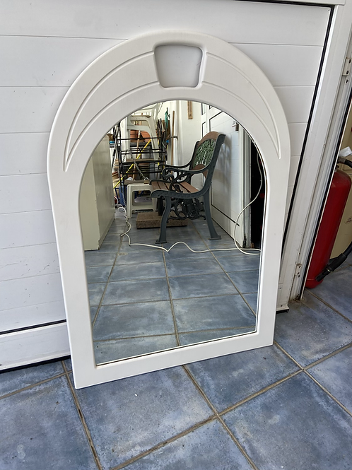 White surround mirror