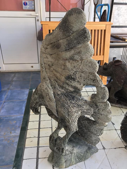 Hand carved stone eagle