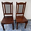 Thumbnail: 2 Indian wood chairs with metal lattice inserts €65 each