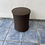 Thumbnail: Chocolate brown leather stool