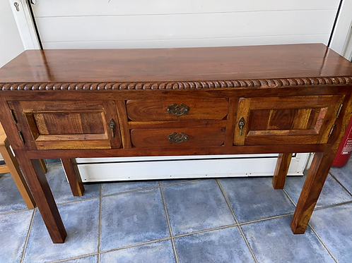 Heavy Indian wood console table