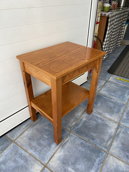 Pine occasional table or bedside with 1 drawer 3 available