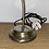 Thumbnail: Vintage brass lamp with glass shade