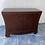 Thumbnail: Unusual dark brown heavy wood sideboard